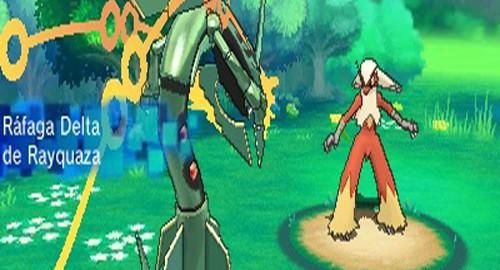 Mega Rayquaza Rayquaza puede megaevolucionar en Pokémon Rubí Omega y Zafiro Alfa