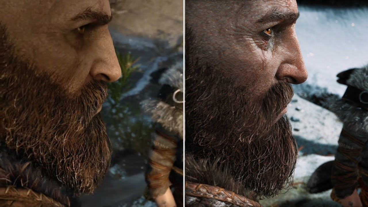god of war e3 2016 vs 2018